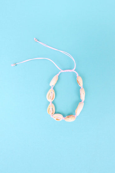 Shell Anklet - Light Pink