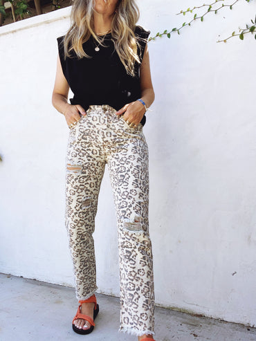 Leopard Denim
