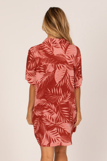SHADY PALMS DRESS - ROUGE