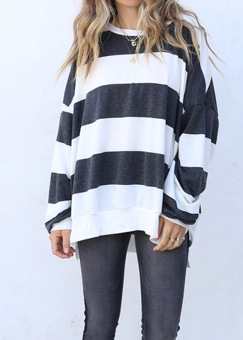 Kacey Pullover Black/Off White