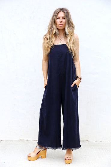 Raw Edge jumpsuit - Dark Navy