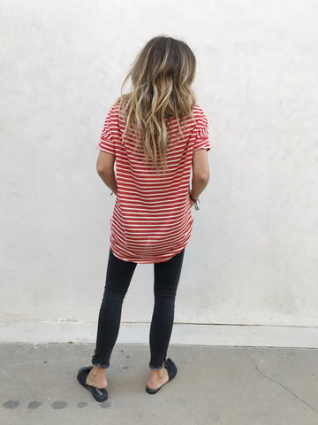 Brick Stripe Tee