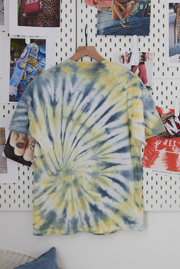 Vintage yellow/blue tie dye