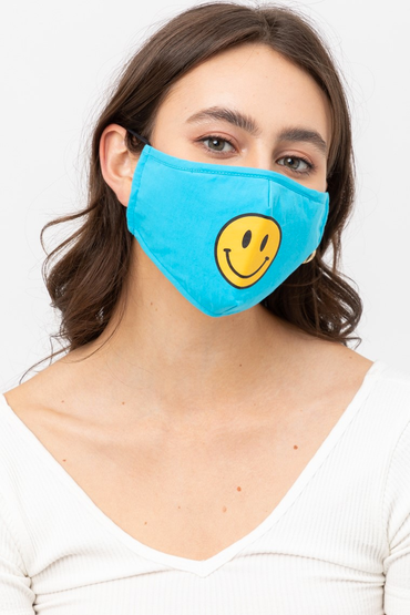 Blue Smiley Mask