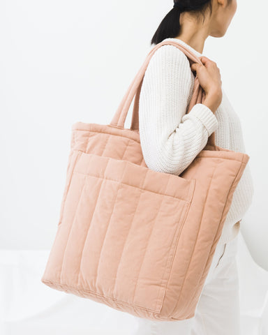 Quilted Pocket Tote - Canyon