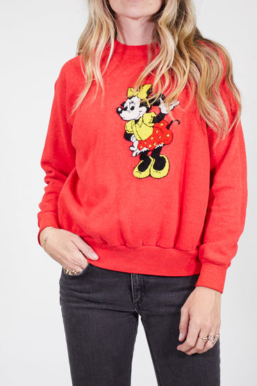 Vintage Red Minnie Pullover