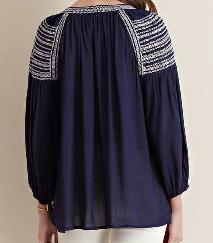 Taylor Blouse Navy