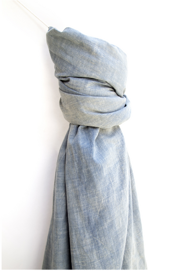 Vintage Denim Chambray Throw