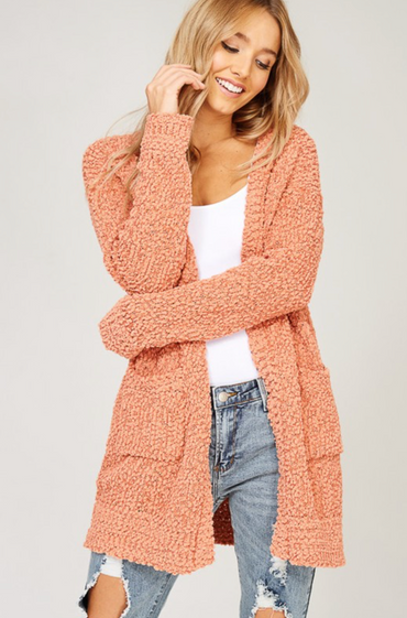 Fairview Cardigan Rust