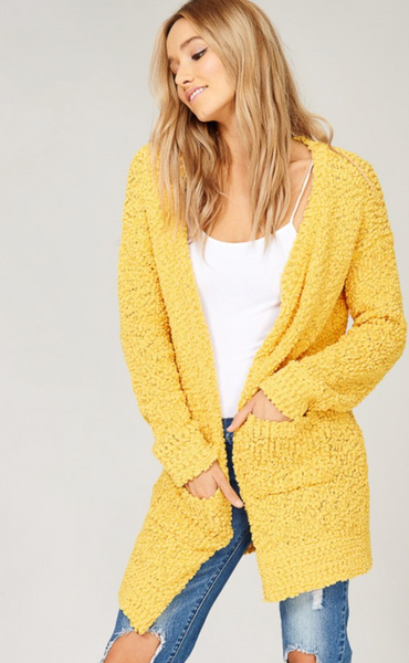 Fairview Cardigan Mustard
