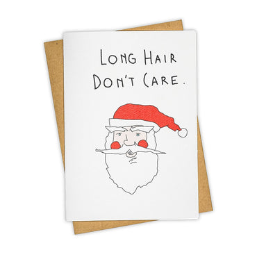 Long Hair Don't Care Card