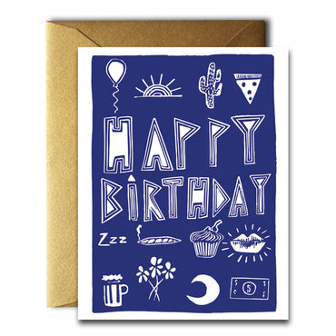 Native Bear - Happy Birthday Stuff Card