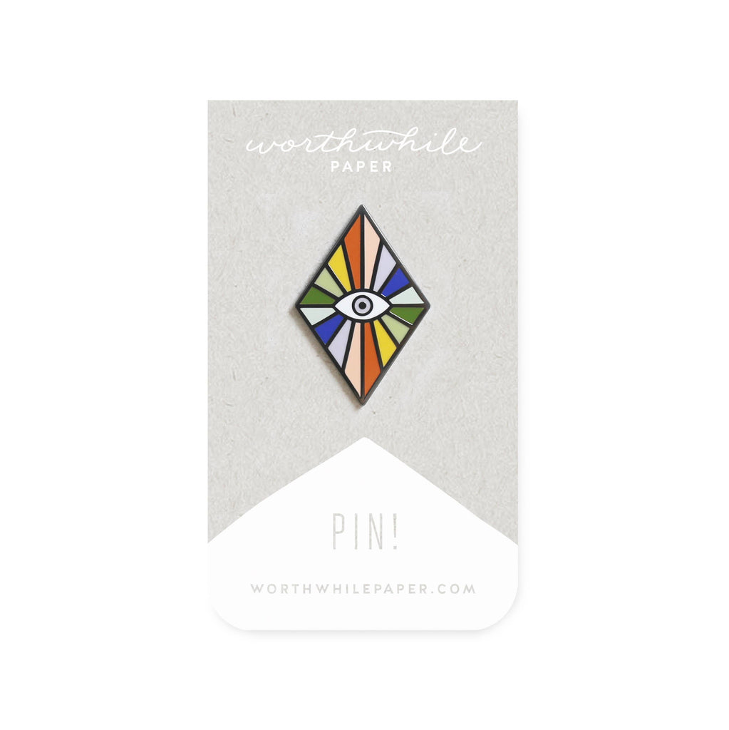 Worthwhile Paper - Rainbow Eye Enamel Pin