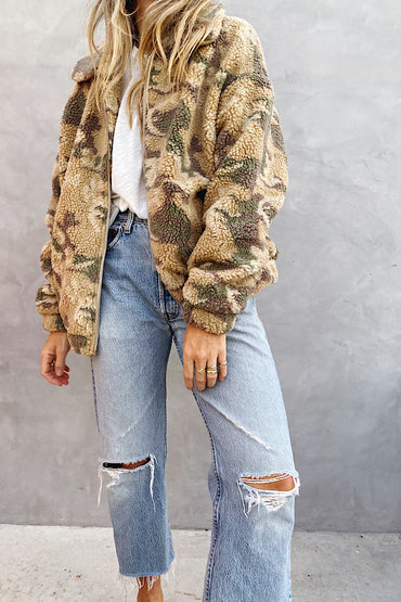 Camel Camo Zip Up