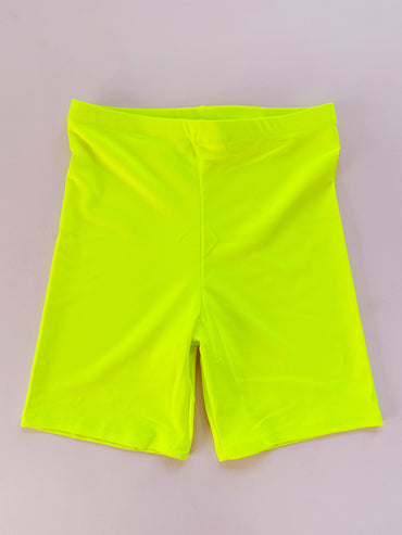 Neon Yellow Bike Shorts