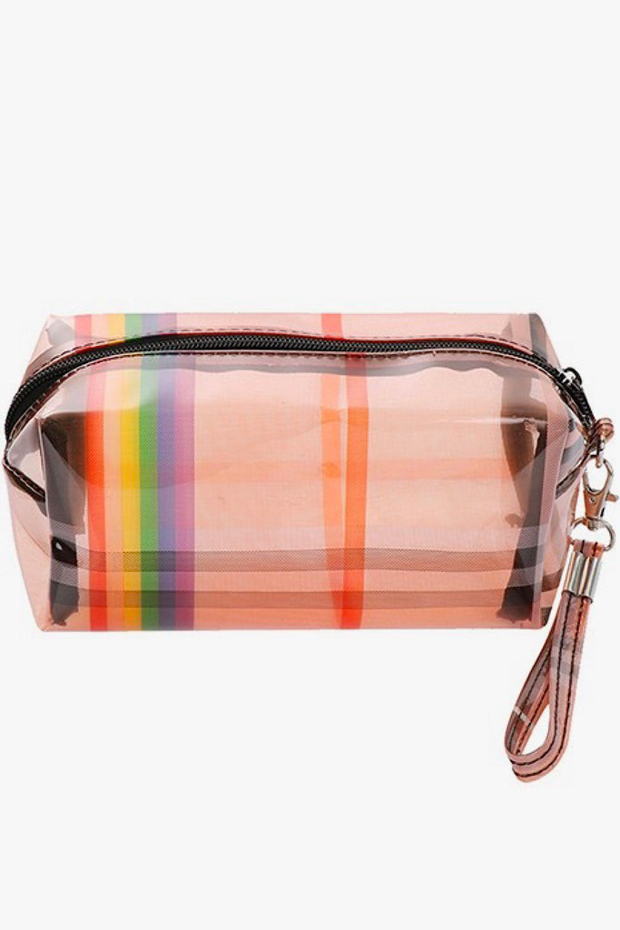 Rainbow Plaid Pouch