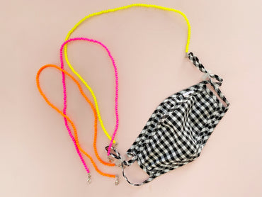 Neon Beaded Mask Chain