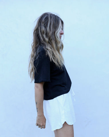 Distressed Crop Tee