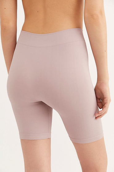 Seamless Rib Bike Short - Pink