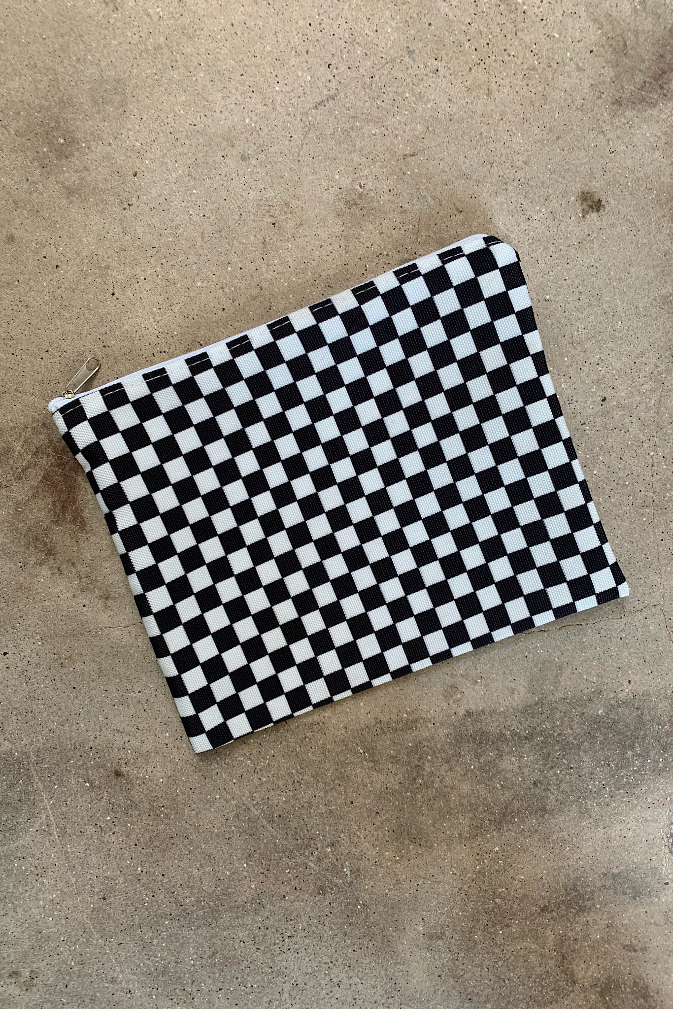 Black Check Pouch