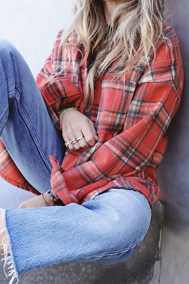 Coral Long Flannel