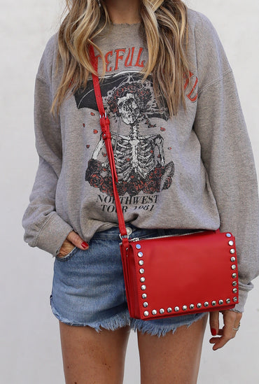 Mia Cross Body Red