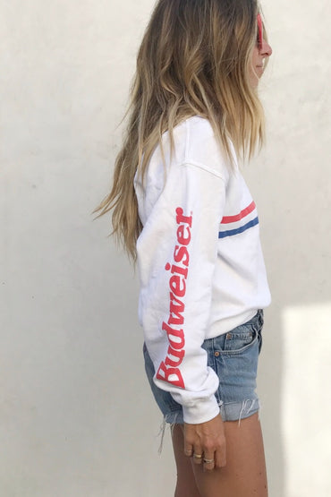 BUDWEISER stripes pullover