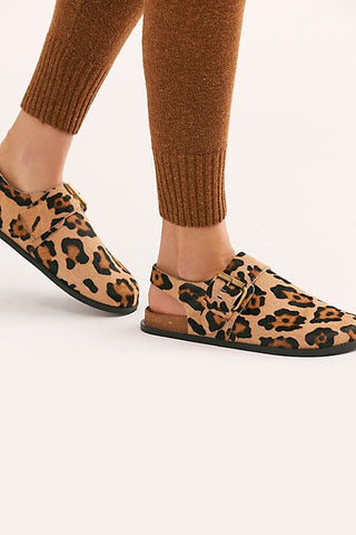 Printed Seattle Sling Back Flat