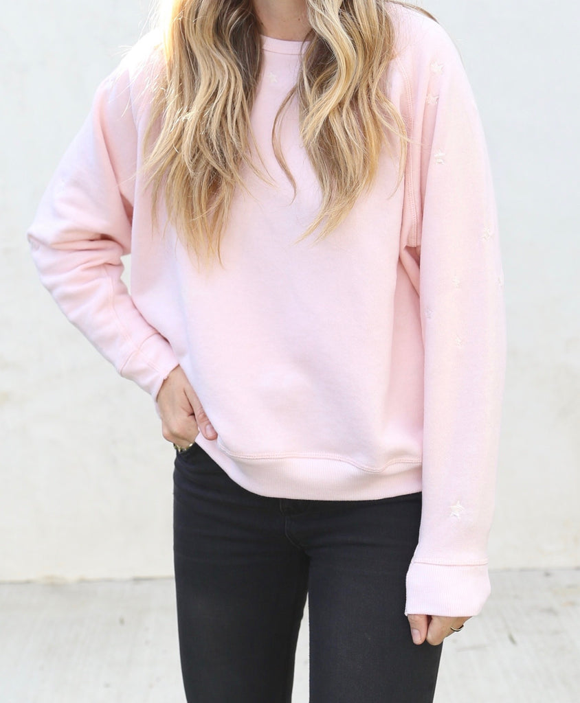 The Raglan Star Pullover Rose