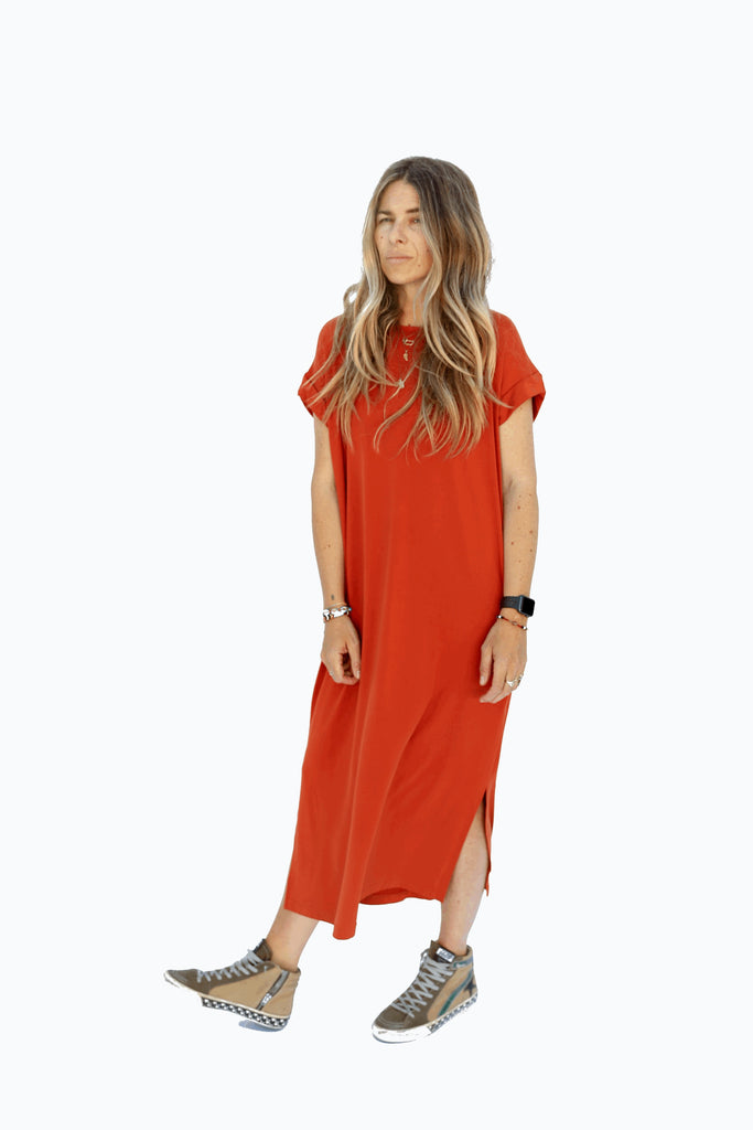 The Kelsey Dress - Rust