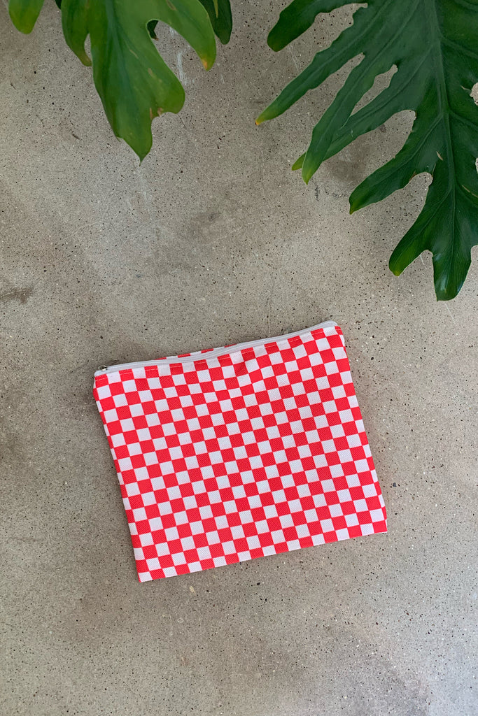 Red Check Pouch