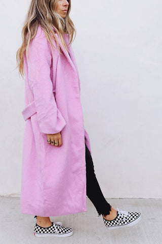 Carrie Pink Coat