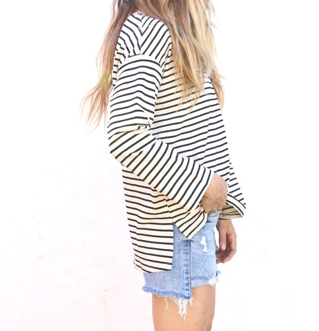 The Arthur Striped Top Cream