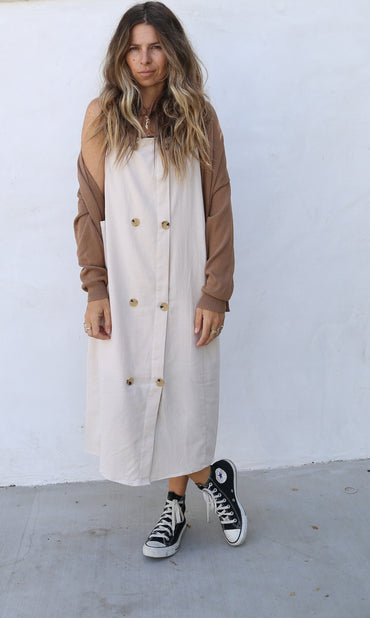 The Drew Dress - Khaki