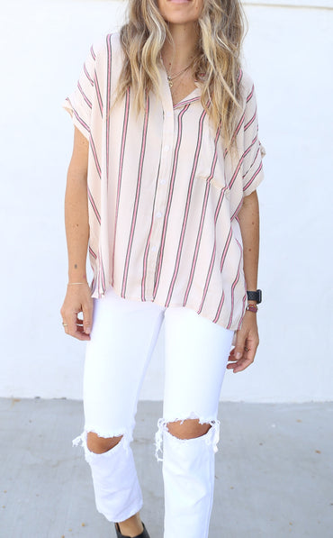 Evan Ivory Button Down