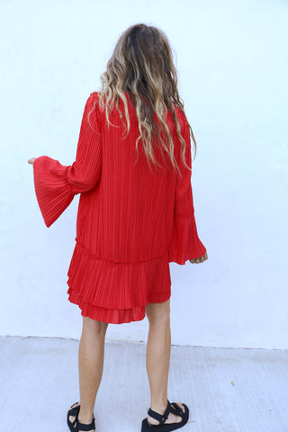 Can't Help It Mini Dress - Red