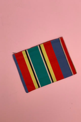 Vintage Stripe Clutch 1