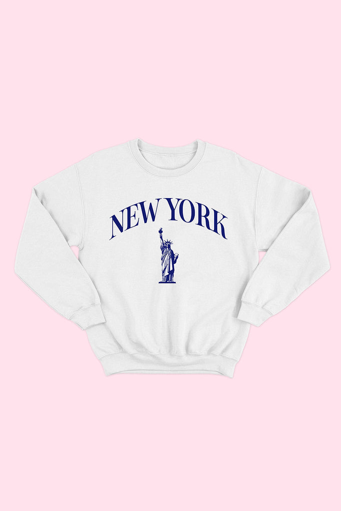 New York Pullover - White