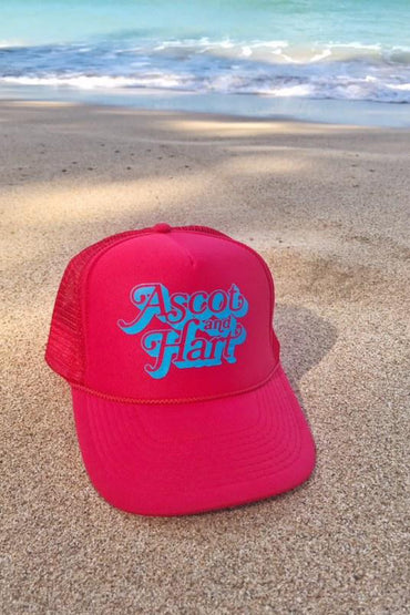 Red Logo Trucker