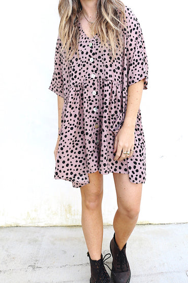 Coco Tunic Dress Blush