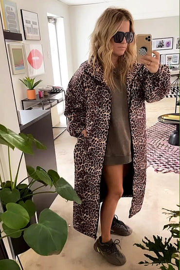 Oversized Leopard Jacket