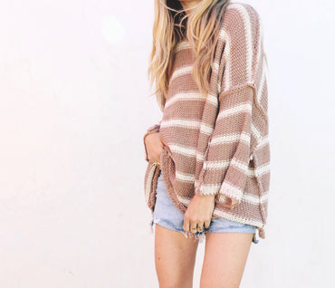 Madison Stripe Knit - Mocha
