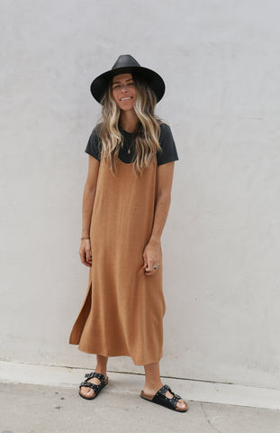 Ochre Slip Dress