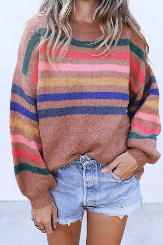 Poppy Stripe Sweater