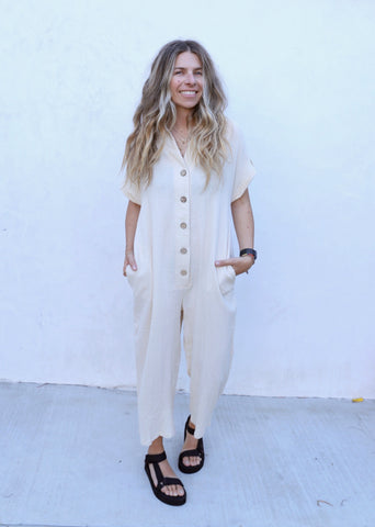 Holly Beige Jumpsuit