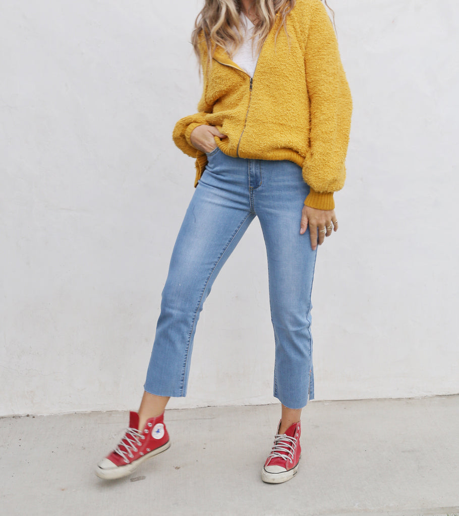 Indie Mustard Sweater