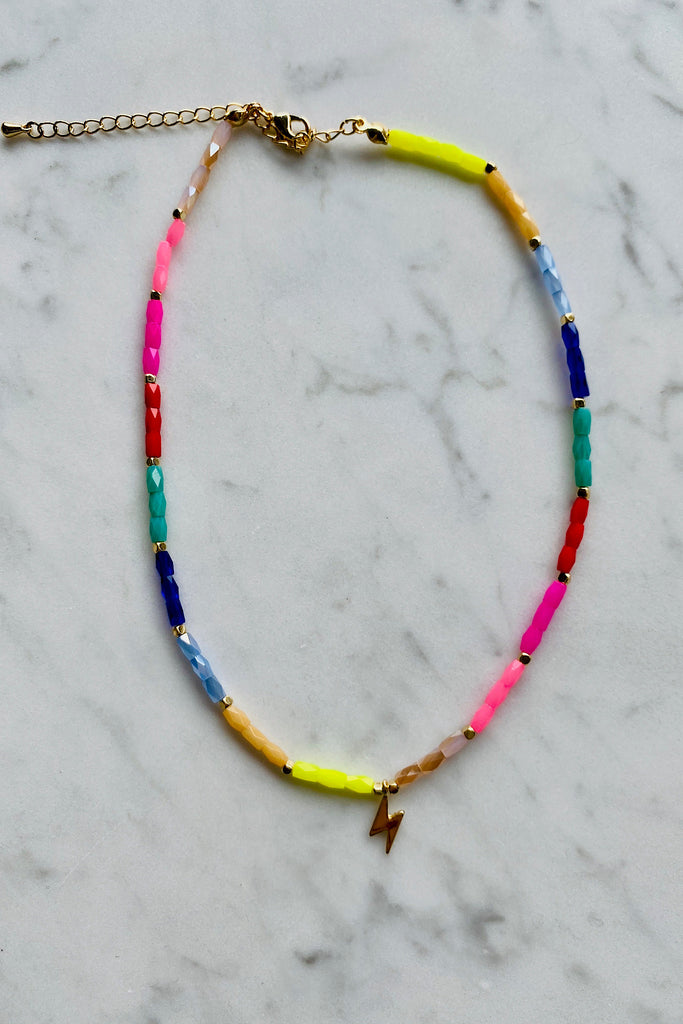 Rainbow Bolt Necklace