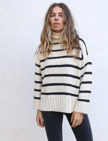 Oatmeal Stripe Pullover