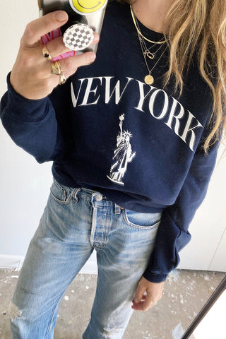 New York Pullover - Navy