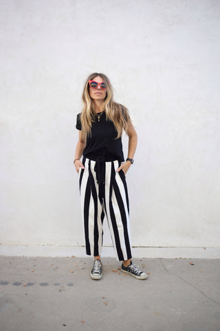 Terry Stripe Pants